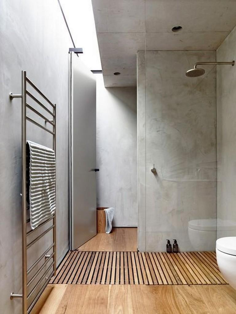 baño minimalilsta toque industrial