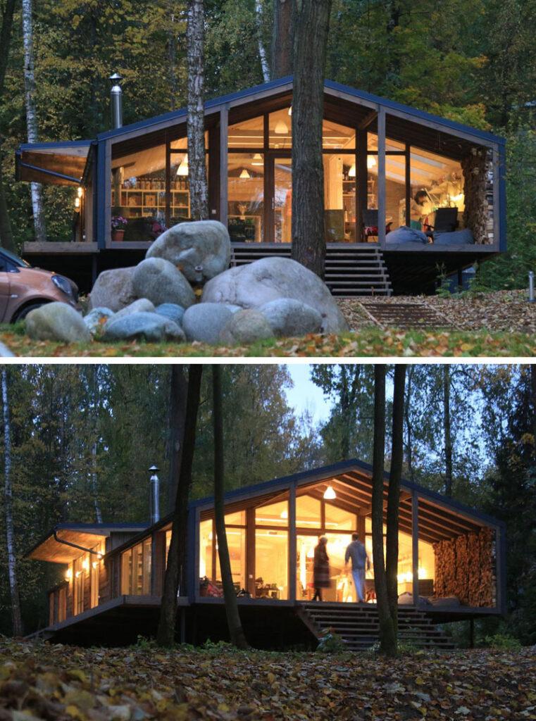casas modernas minimalistas 2020 de bosque