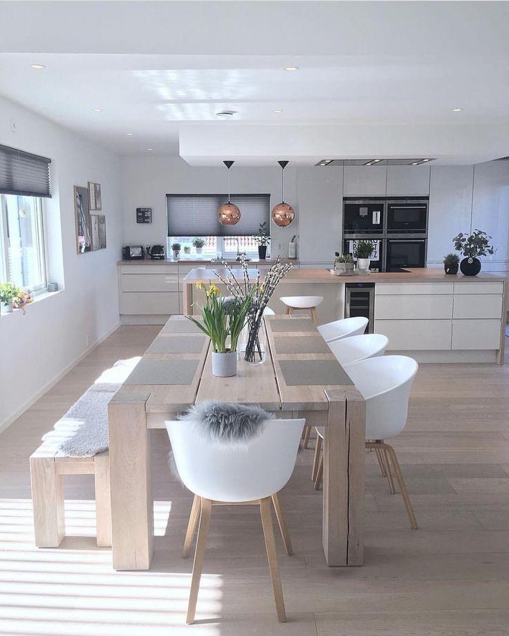 salón comedor en cocina minimalista