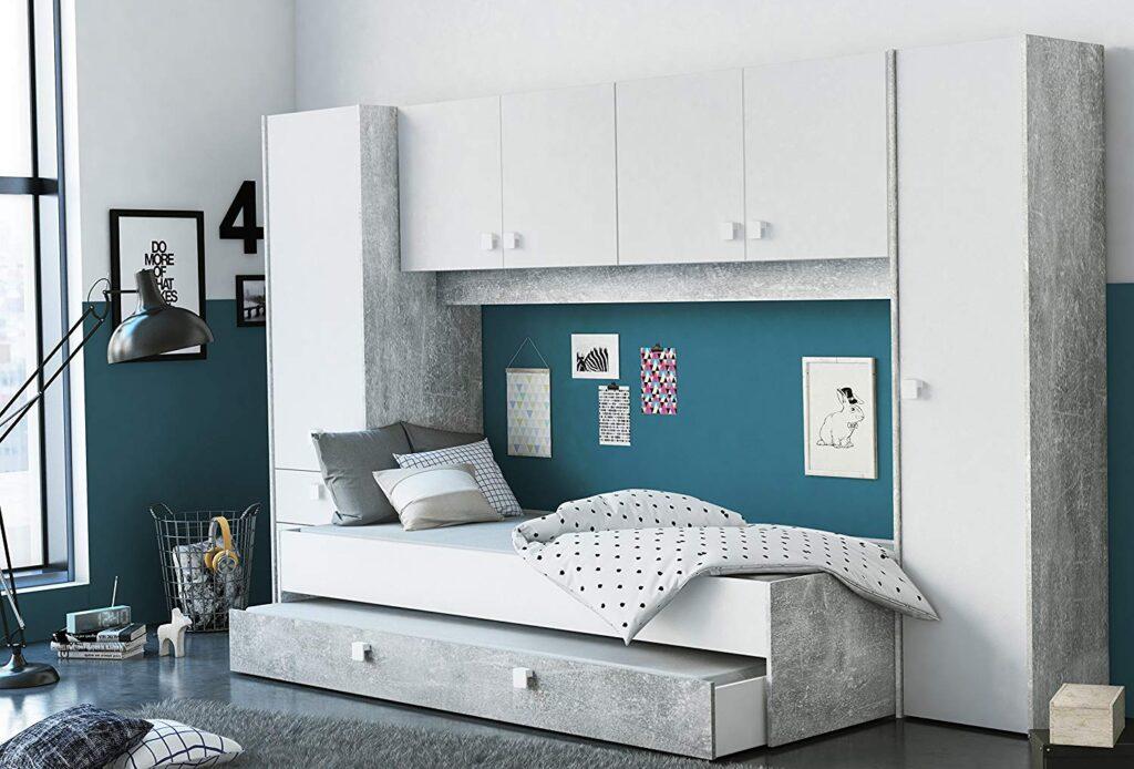 dormitorio minimalista juvenil