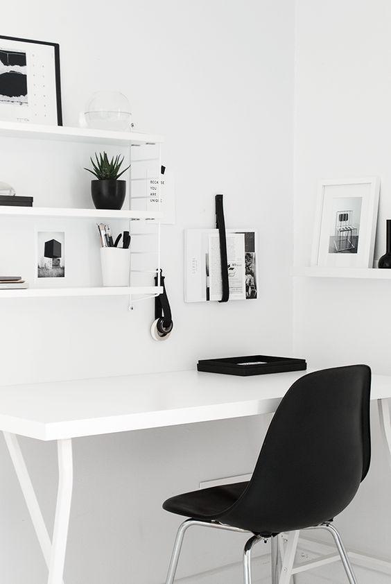 despacho en esquina estilo minimalista moderno