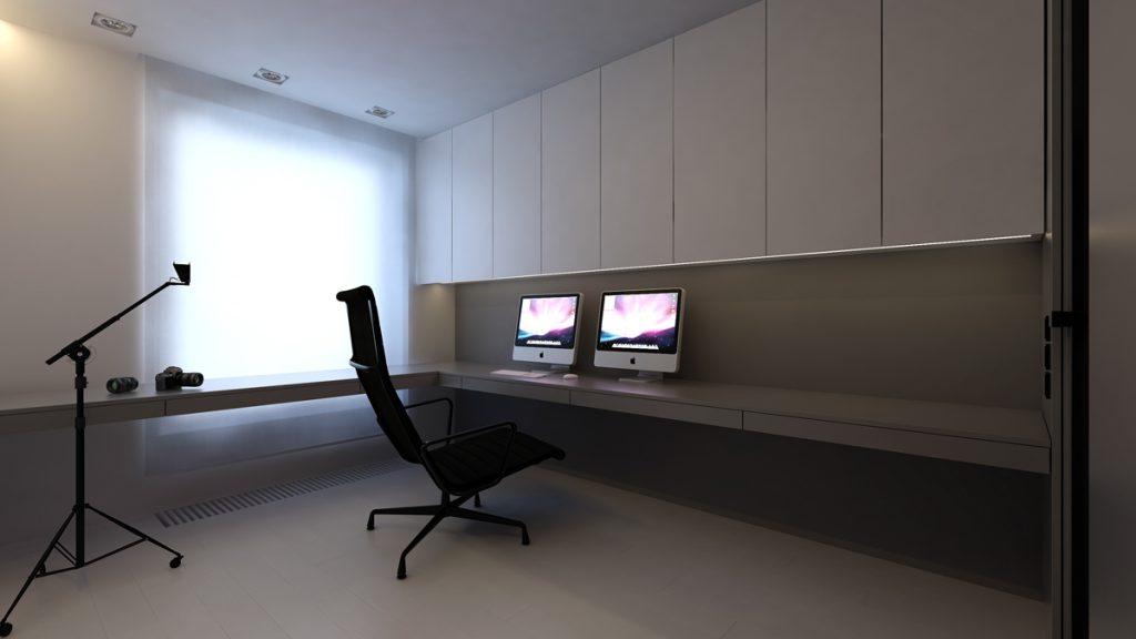despacho ámplio en habitación completa