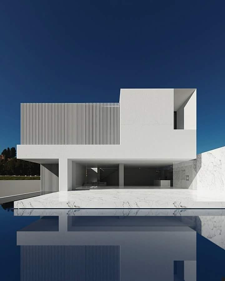 fachada de casa minimalista moderna