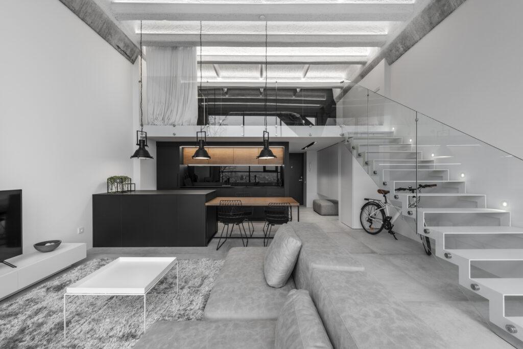 loft minimalista estilo industrial