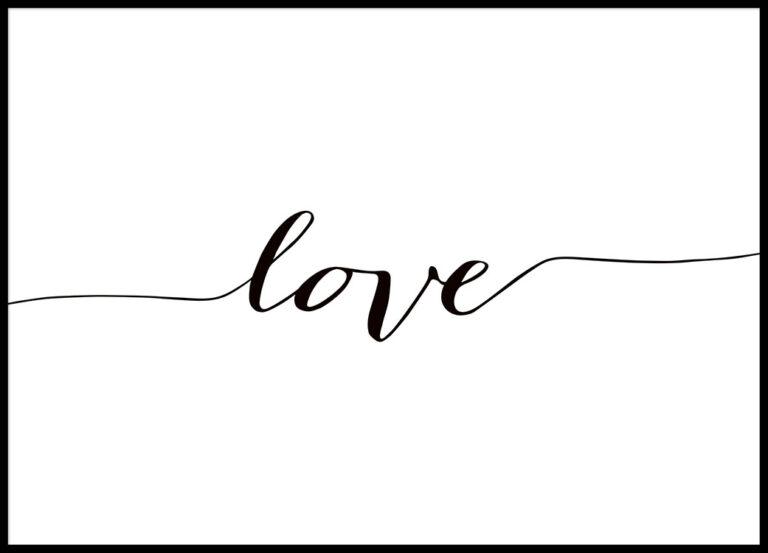 Lámina minimalista de love